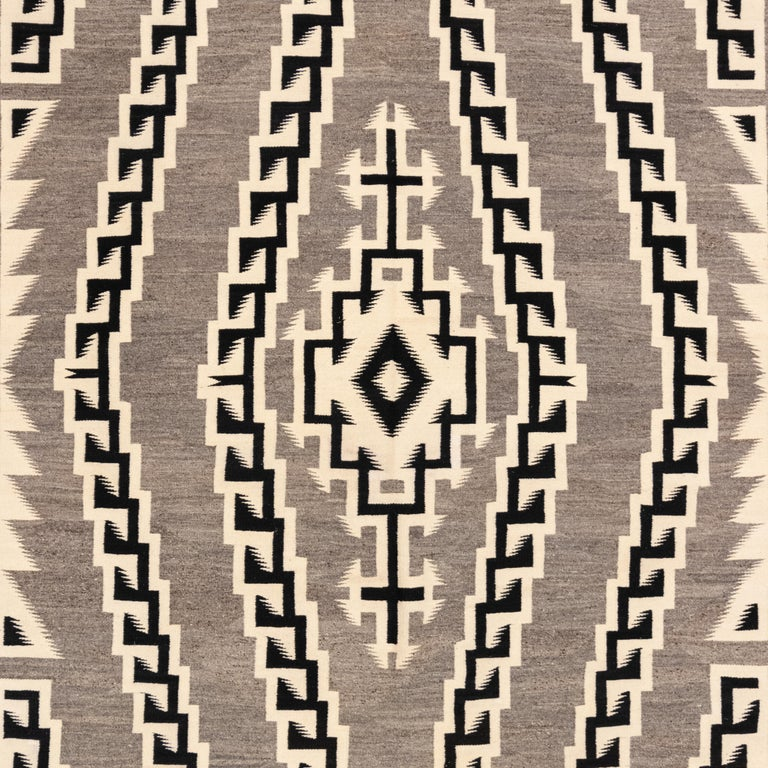 American Large 1930s Navajo Crystal Area Weaving For Sale