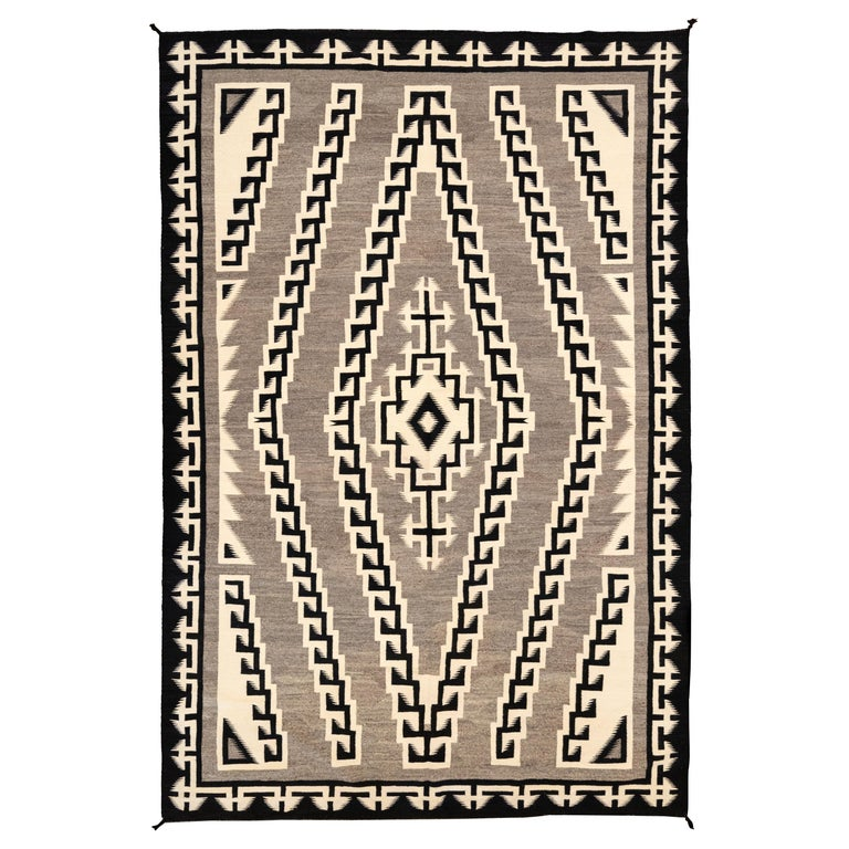 Large 1930s Navajo Crystal Area Weaving For Sale