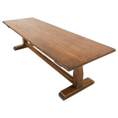 Large 1930s Oak Refectory Dining Table