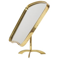 Large 1950s Brass Vanity Mirror