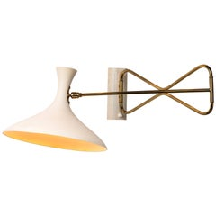 Large 1950s Cosack Leuchten Articulating Wall Light