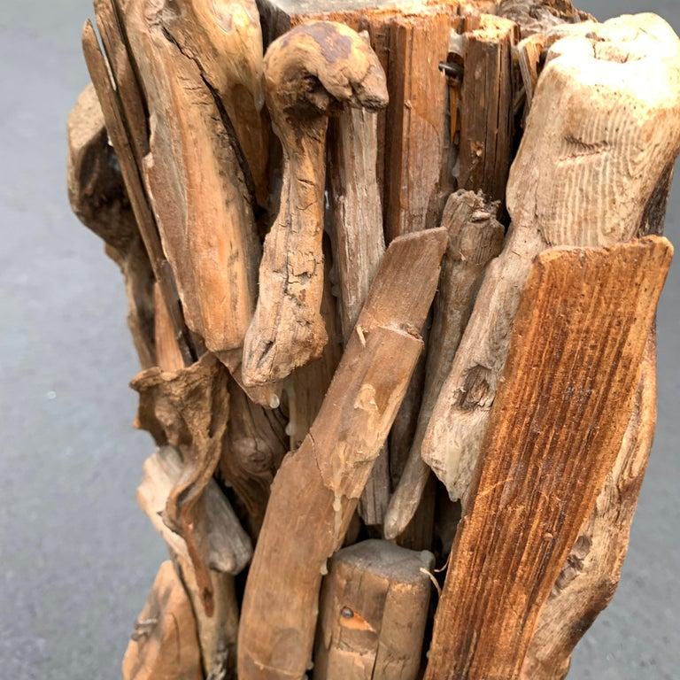 Large 1950s Driftwood Table Lamp For Sale 5