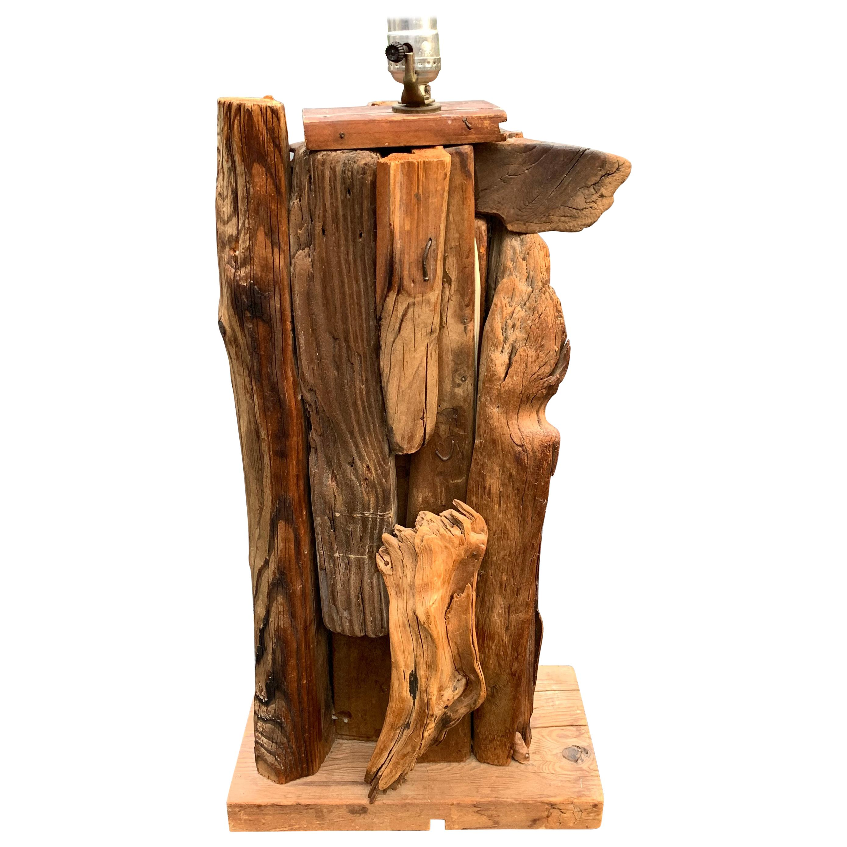 Large 1950s Driftwood Table Lamp