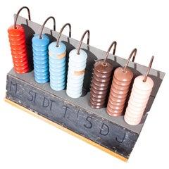 Large 1950s Teaching Model Abacus
