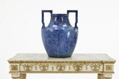 Large 1960s Blue Glazed Urn