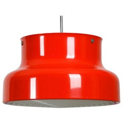 Large 1960s Bumling Ceiling Lamp in Red, by Anders Pehrson for Ateljé Lyktan