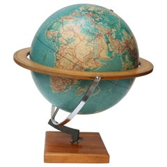 Large 1960s Cartocraft Visual-Relief Globe