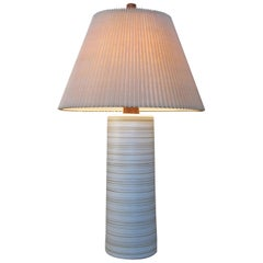 Large 1960s Ceramic and Walnut Lamp by Gordon Martz