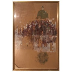 Large 1960's Colored Seriagraph by Blair Lent