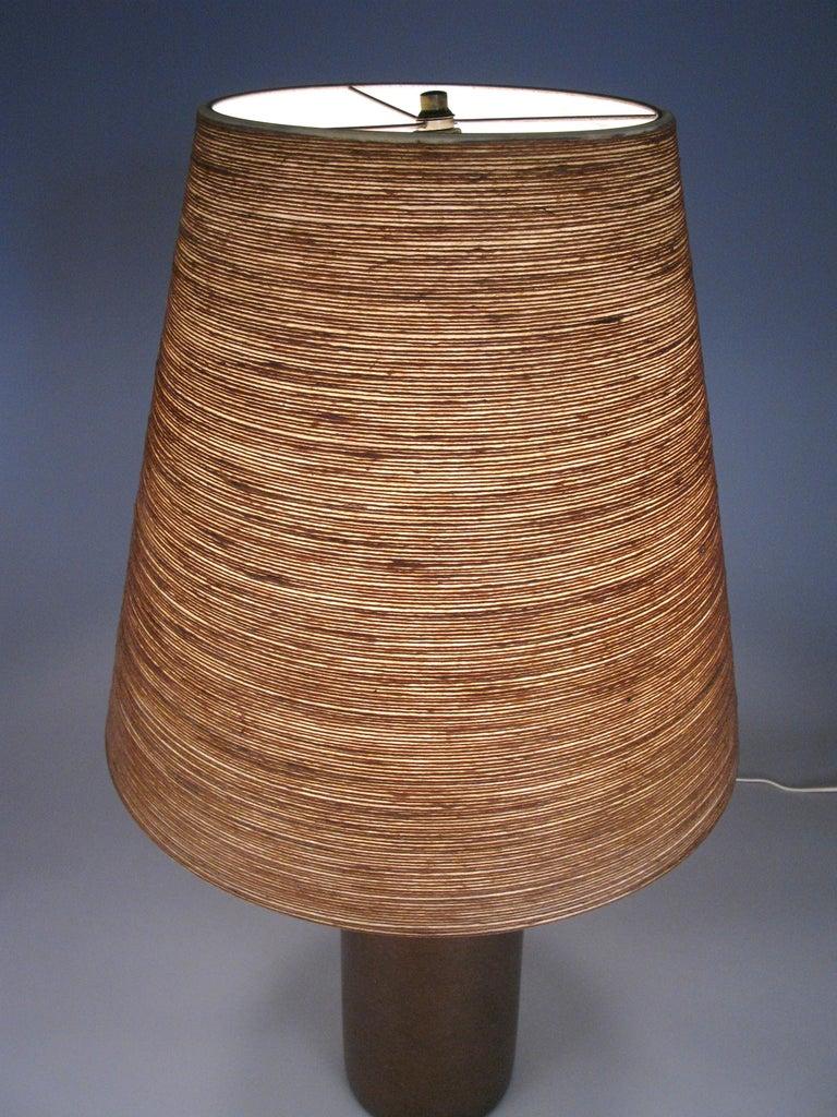 Mid-Century Modern Large 1960s Danish Ceramic Lamp by Bostlund For Sale
