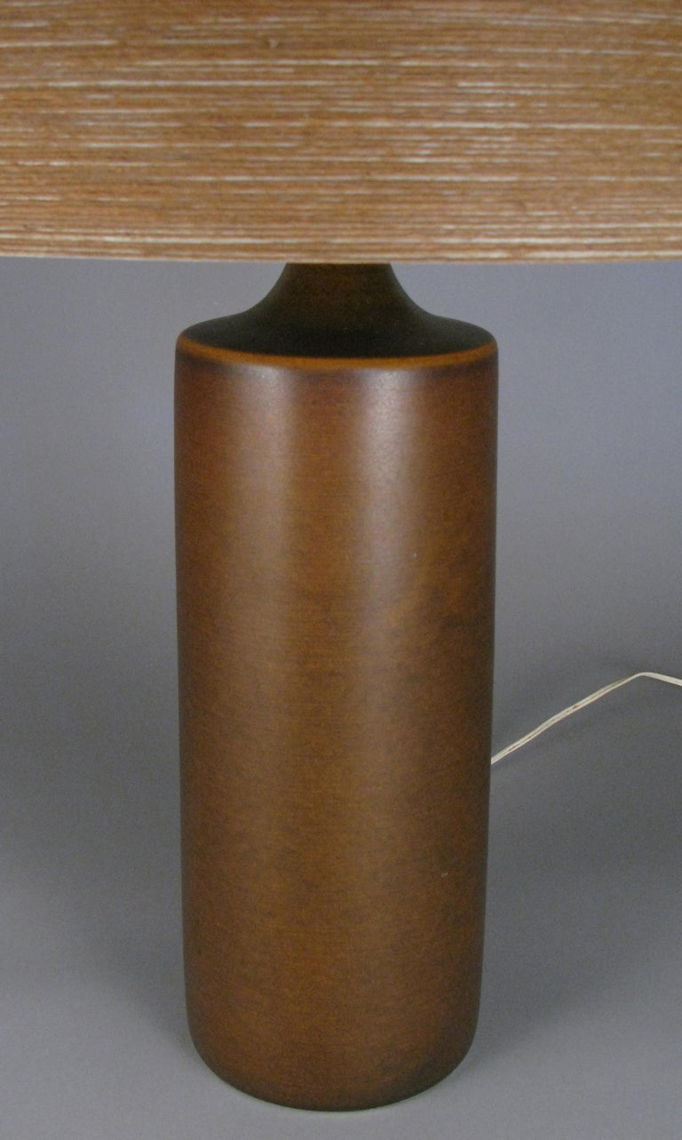 Large 1960s Danish Ceramic Lamp by Bostlund In Good Condition For Sale In Hudson, NY