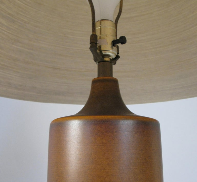 Mid-20th Century Large 1960s Danish Ceramic Lamp by Bostlund For Sale