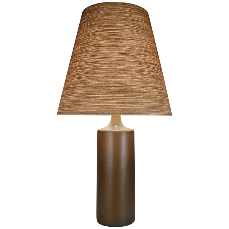 Large 1960s Danish Ceramic Lamp by Bostlund For Sale