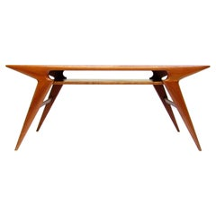 "Large 1960s Danish ""Smile"" Coffee Table by Johannes Andersen"