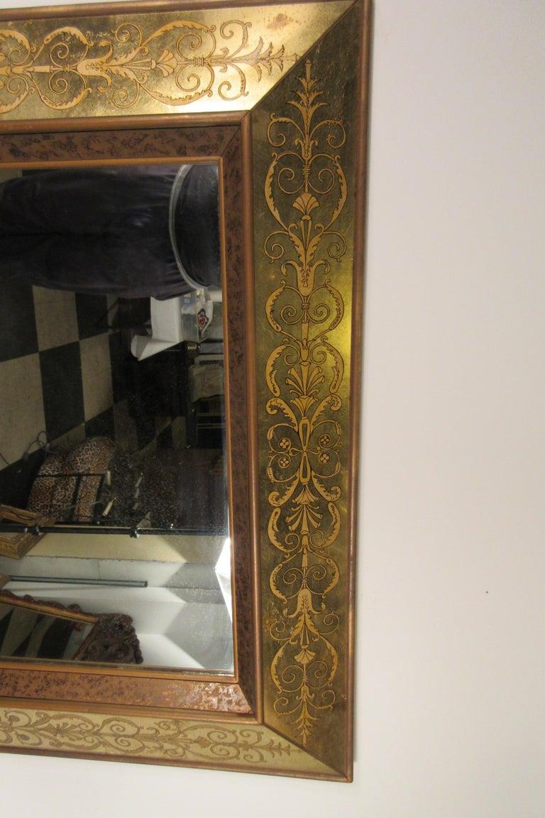 Large 1960s Italian Églomisé Mirror For Sale 6