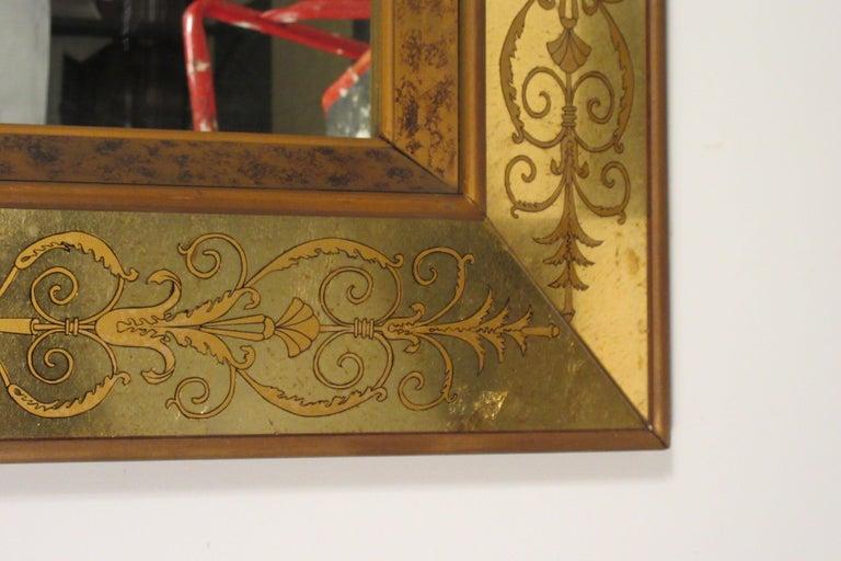 Large 1960s Italian Églomisé Mirror For Sale 8