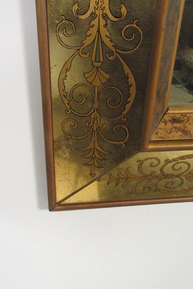 Large 1960s Italian Églomisé Mirror For Sale 10