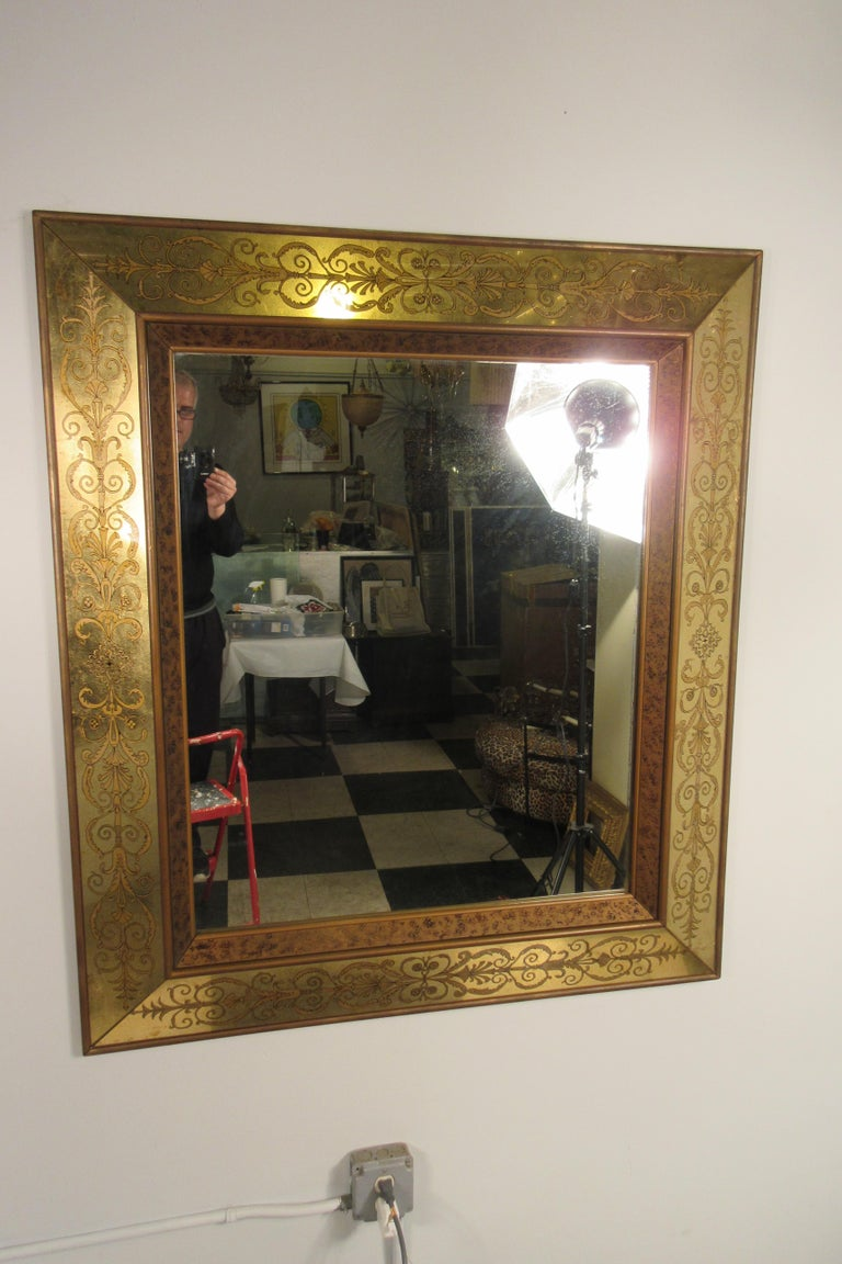 Large 1960s Italian Églomisé Mirror In Good Condition For Sale In Tarrytown, NY