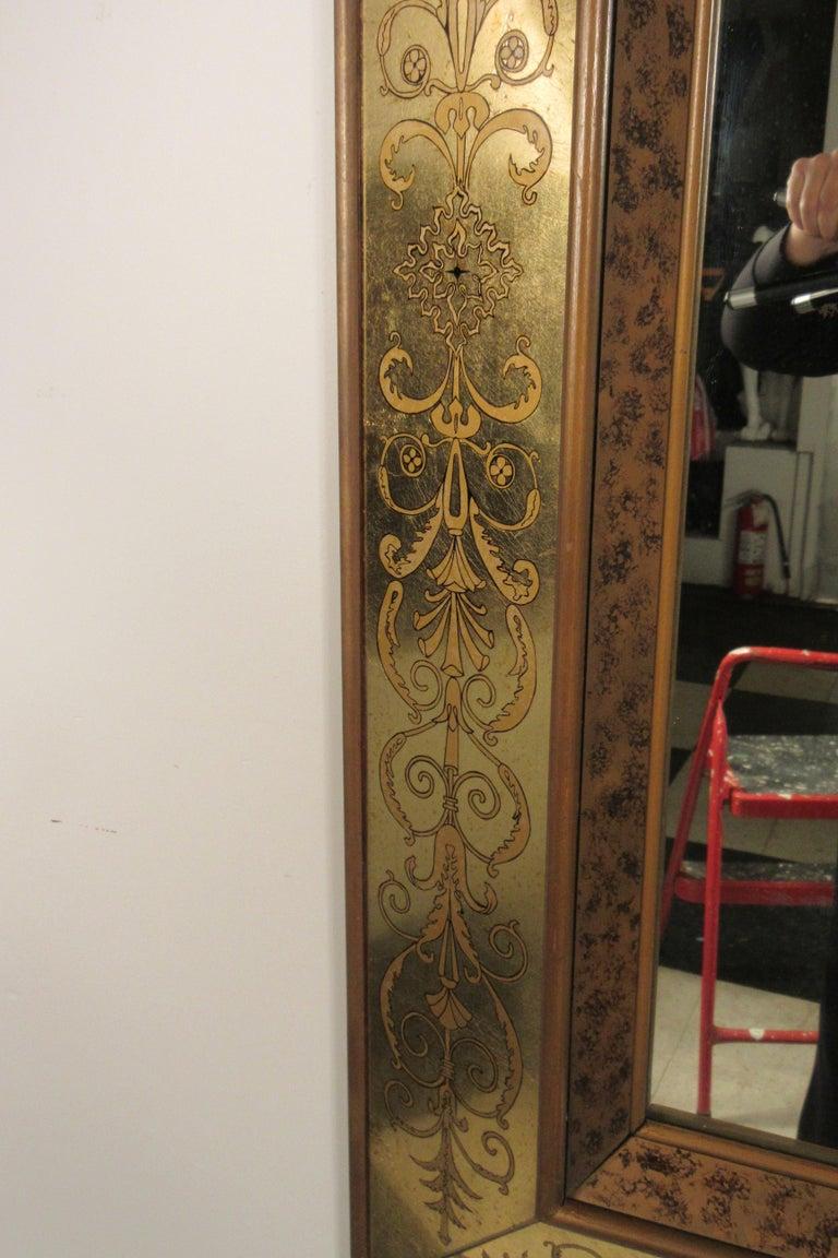 Large 1960s Italian Églomisé Mirror For Sale 1