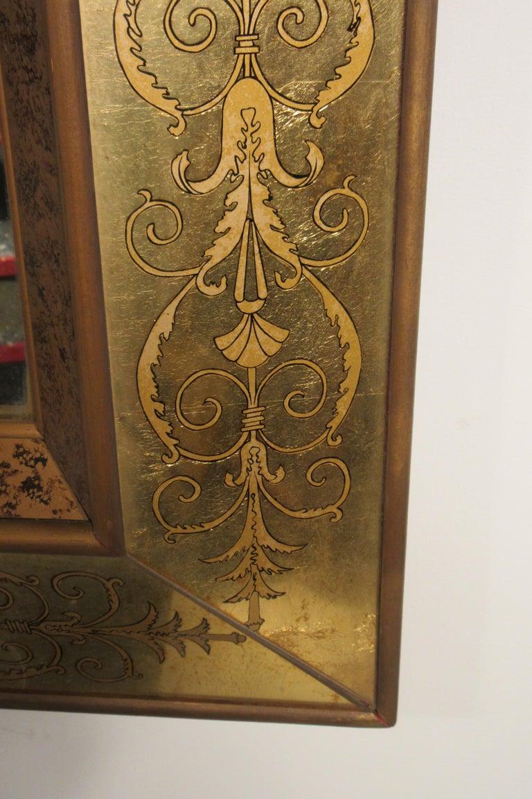 Large 1960s Italian Églomisé Mirror For Sale 3