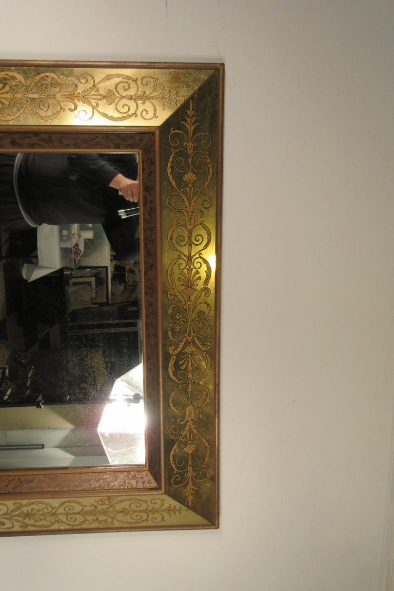 Large 1960s Italian Églomisé Mirror For Sale 5