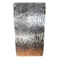 Large 1960s Kalmar Lighting Waved Textured Molded Glass Wall Light oe Sconce