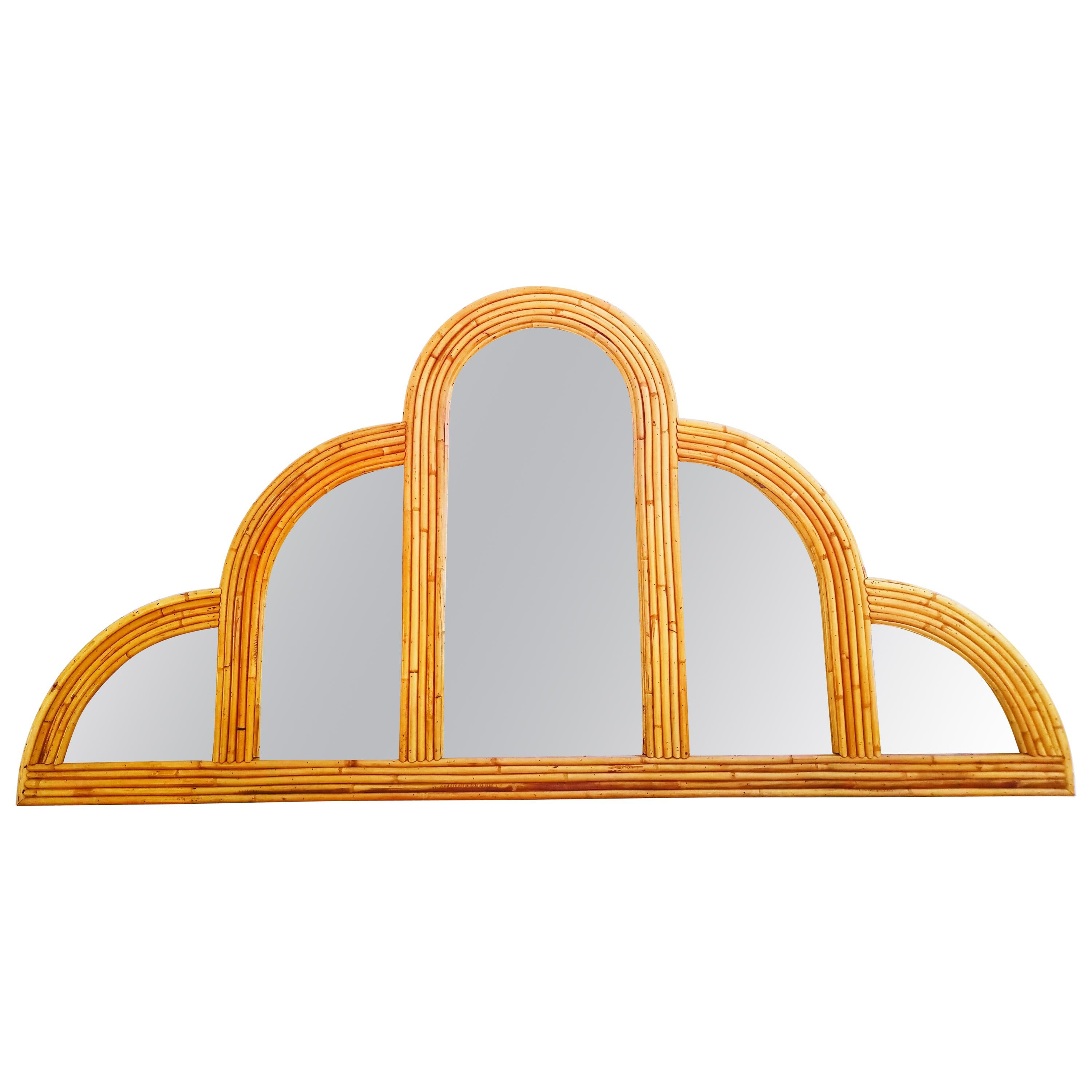 Large 1960s Mirror Bamboo