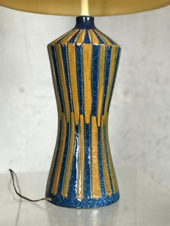 Large 1960s Modernist Italian Ceramic Lamp for Raymor