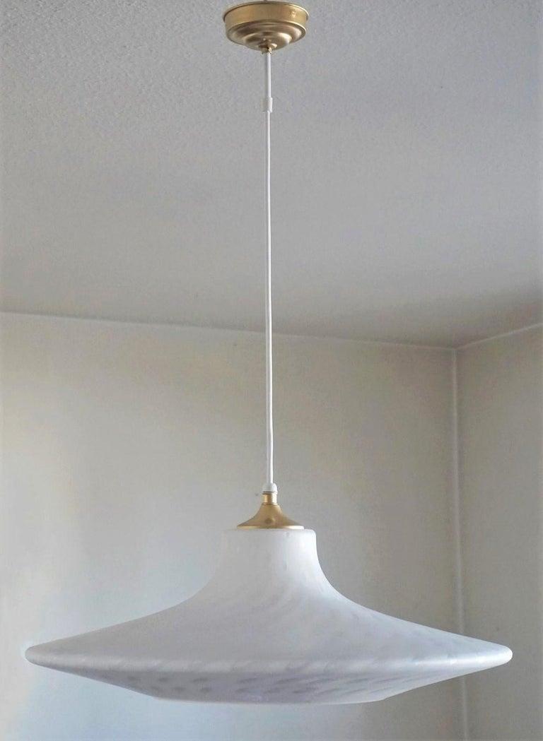 Large 1960s Peill & Putzler Murano Glass Fluch Mount Stilnovo Style For Sale 3
