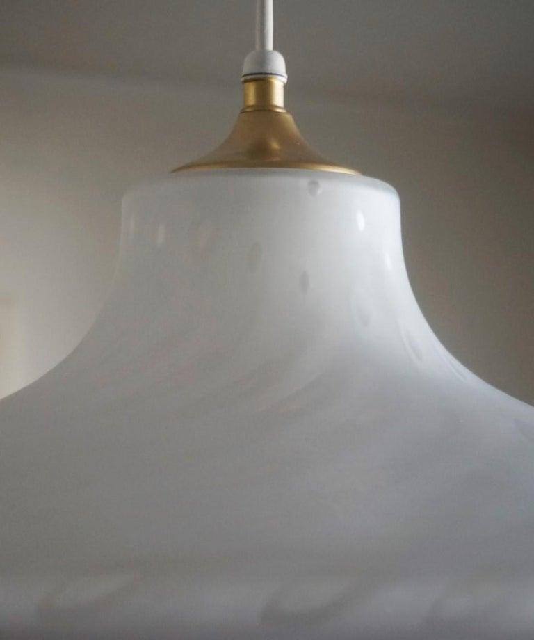 Brass Large 1960s Peill & Putzler Murano Glass Fluch Mount Stilnovo Style For Sale