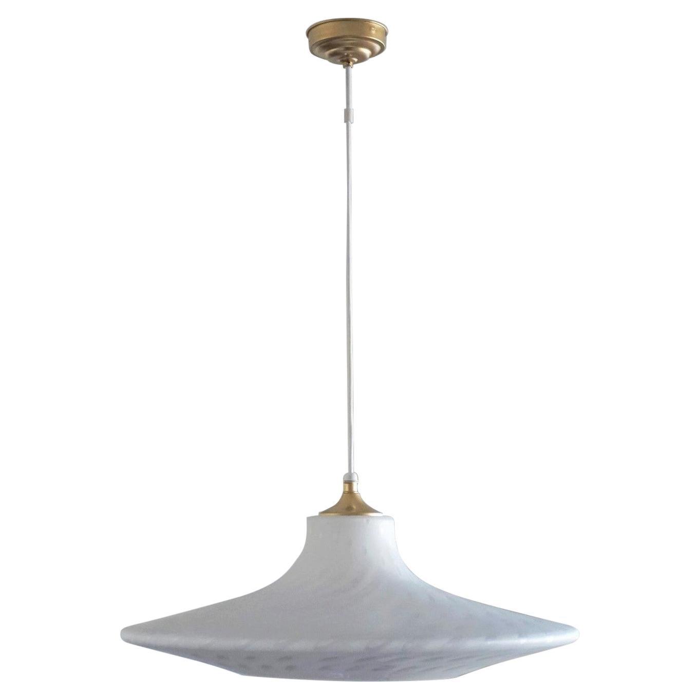 Large 1960s Peill & Putzler Murano Glass Pendant or Fluch Mount Stilnovo Style