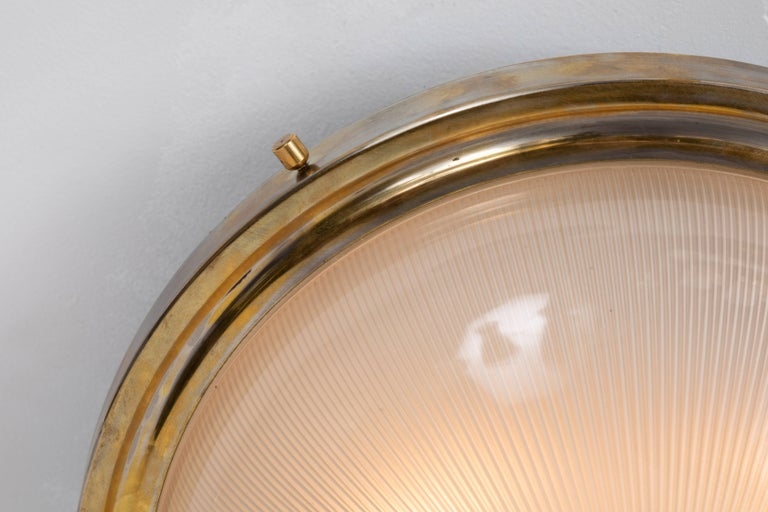Large 1960s Sergio Mazza Wall or Ceiling Light for Artemide In Good Condition In Glendale, CA