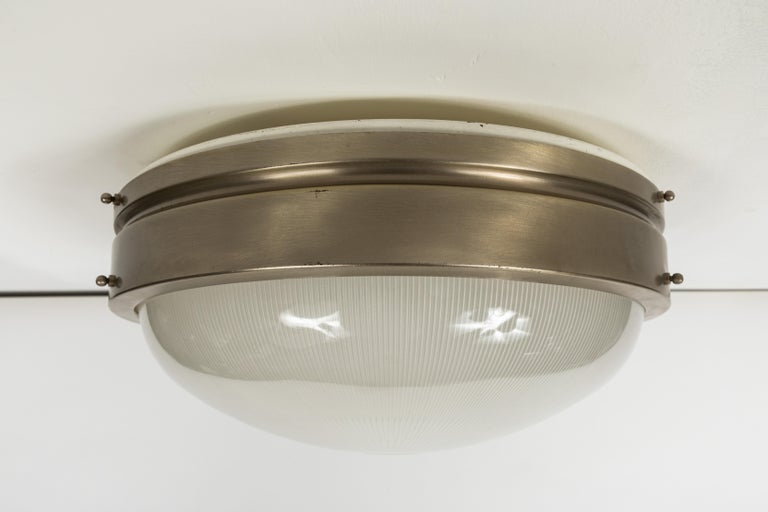 Opaline Glass Large 1960s Sergio Mazza Wall or Ceiling Light for Artemide For Sale