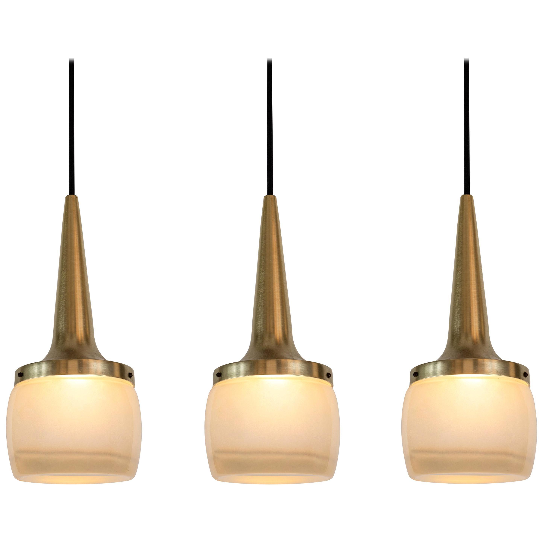 Large 1960s Staff Leuchten Pendants