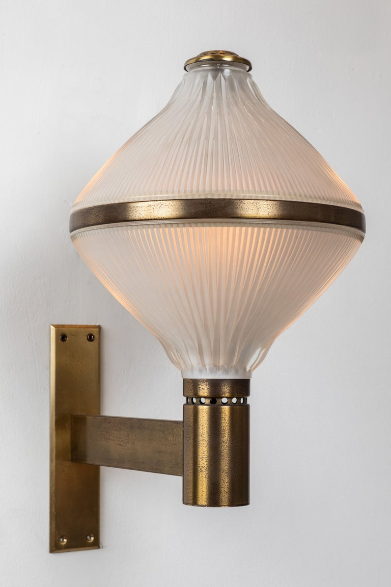 Mid-20th Century Large 1960s Studio B.B.P.R Brass Sconces For Sale