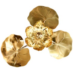 Large 1960s 'Waterlily' Vegetal Sconce