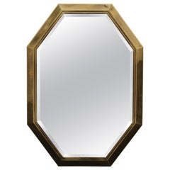 Large 1970s Brass Mastercraft Octagonal Mirror