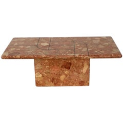 Large 1970's Italian Terrazzo Marble Coffee Table