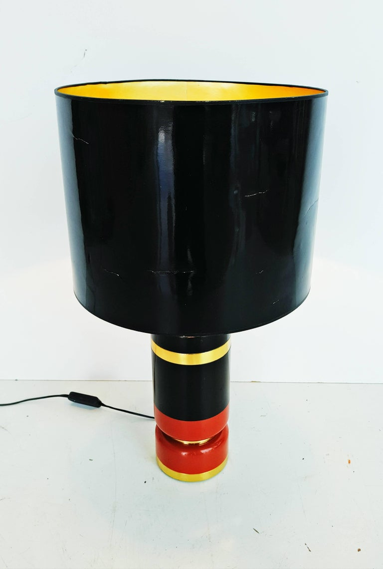 Italian Large 1970s Table Lamp For Sale