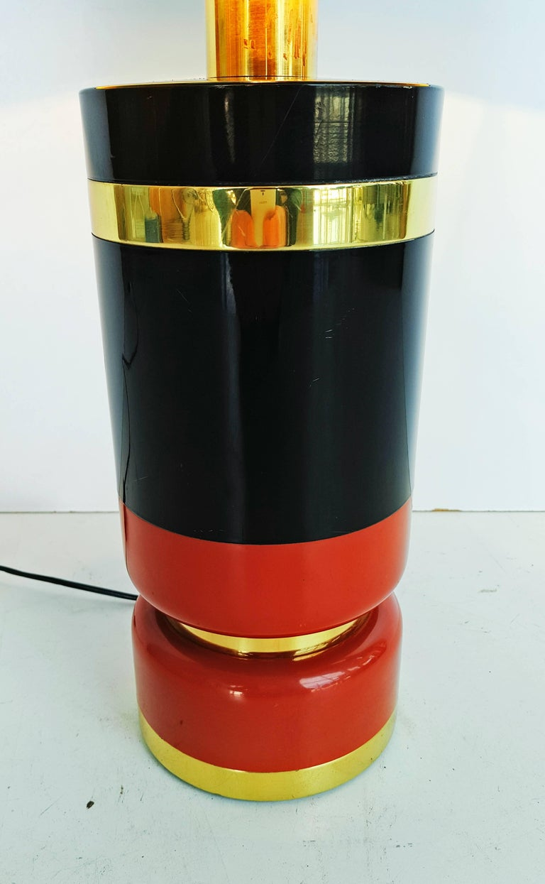 Metal Large 1970s Table Lamp For Sale
