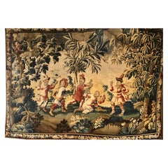 Large 19th-20th Century Aubusson Figural Tapestry