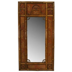 Large 19th c. Bamboo Wall Mirror