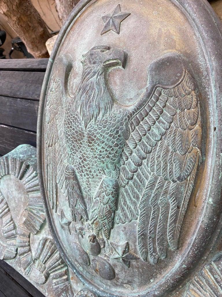 European Imperial Crest Antique Shield Coat of Arm Wall Plaque Armorial LA Antique Dealer For Sale