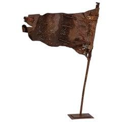 Large 19th Century Billowing Metal Flag