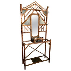 "Large 19th Century ""Brighton"" Bamboo Hall Stand"