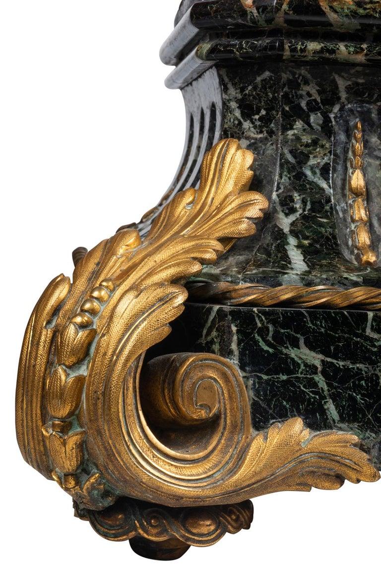 Large 19th Century Bronze Mantel Clock For Sale 6
