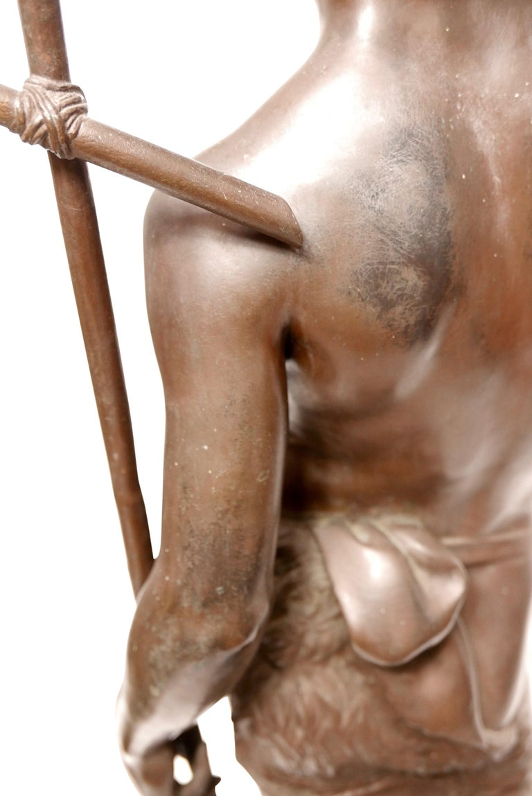 Large 19th Century Bronze Sculpture of John the Baptist by Paul Dubois, 1861 3