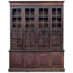 Large 19th Century Burmese Colonial Haberdashery Cabinet
