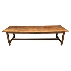 Large 19th Century Cherry Farm Dining Table