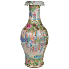 Large 19th Century Chinese Canton / Rose Medallion Vase